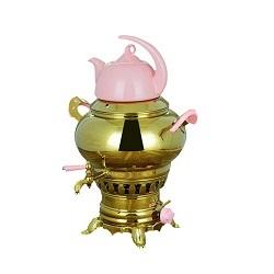 سماور گازسوز کروپ ست ساحر طلایی Saher 1040