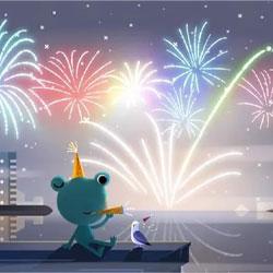 گوگل برای جشن سال نو میلادی دودل ویژهای ایجاد میکند