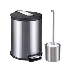 سطل زباله 3 لیتری استیل با برس یونیک UN-4360