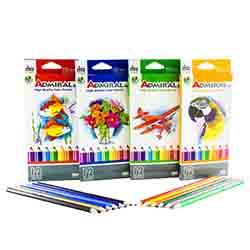 مداد رنگی 12 رنگ آوای مهر بسته 6 عددی 1289