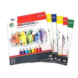 مداد رنگی 24 رنگ آوای مهر بسته 6 عددی 1288