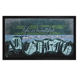 تابلو نقاشی خط زندگی زیباست کد 143