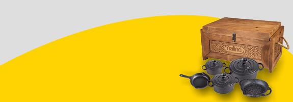 سرویس قابلمه 8 پارچه چدنی نالینو Tekla